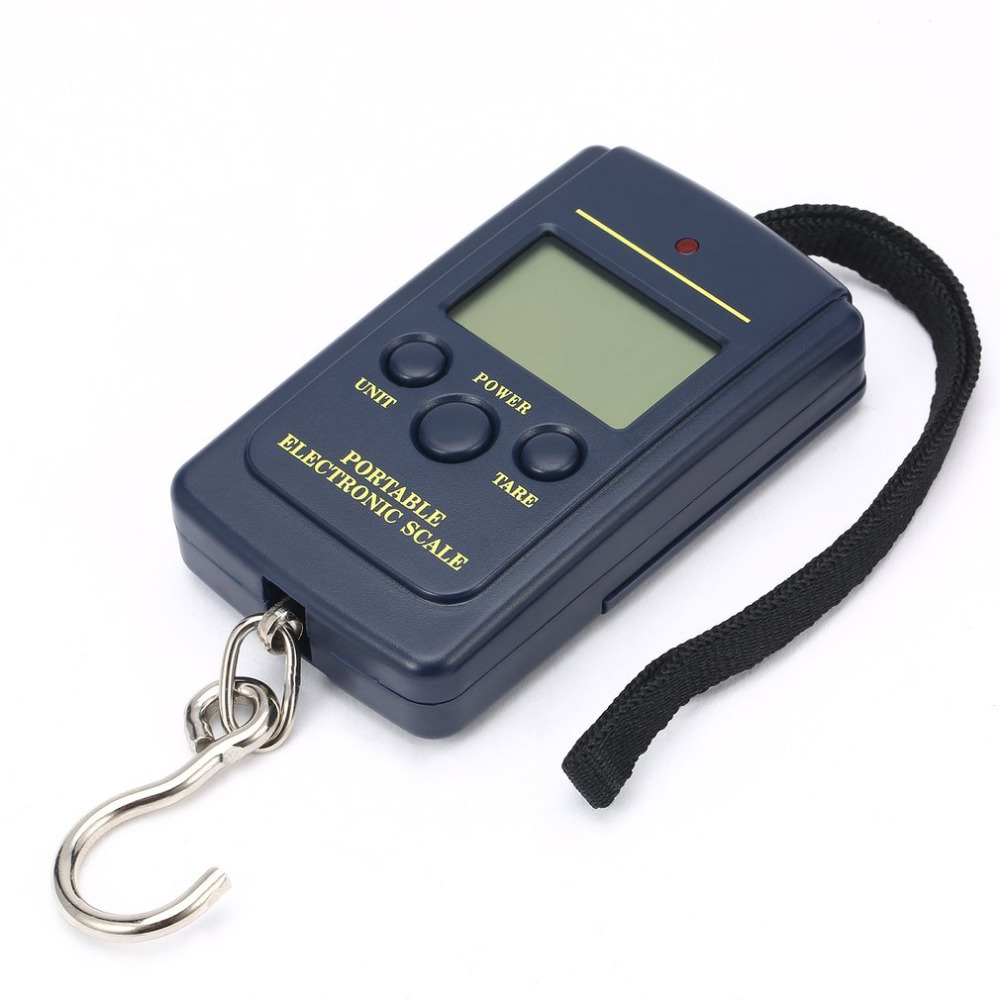 Load 40Kg Digital Scales LCD Mini Protable Pocket Weighting Fishing Scale Electronic Hanging Balance Fish Free shipping