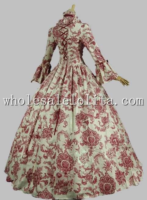 Best Seller Vintage Print Dress Vestido del siglo XVIII Marie - Disfraces - foto 5