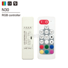 Nano remote dimmer DC5-24V single color/CCT/RGB/RGBW wireless RF remote led dimmer controller цена