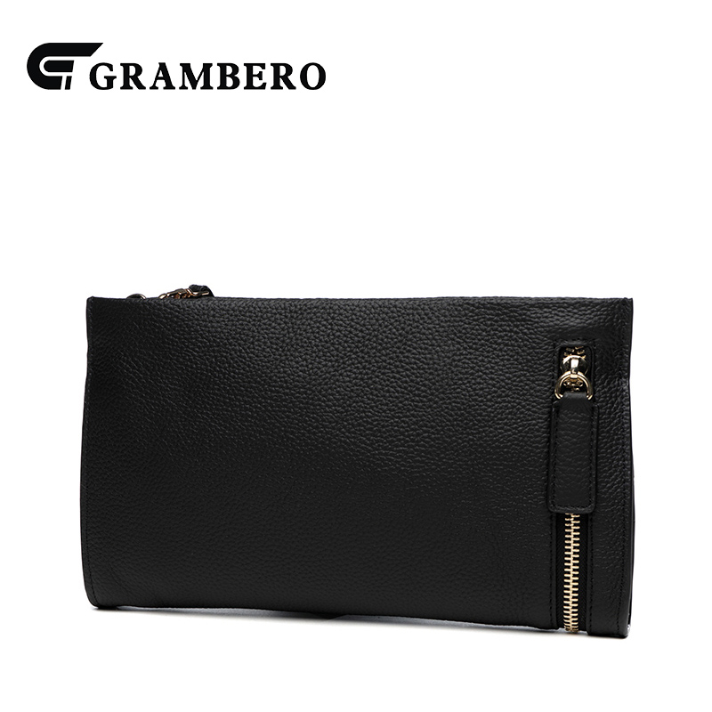Casual Style Solid Color Zipper Clutch Bag Soft Cowhide Top Leather Women Clutch Wallet Party Modern Crossbody Shoulder Bag Gift casual solid color top leather shoulder bag heart shaped decoration cover fashion women clutch wallet crossbody messenger bag