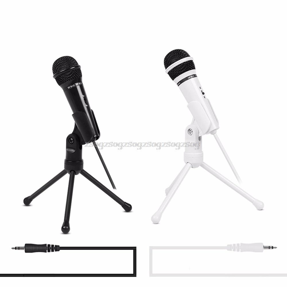 Schnelle Lieferung Kondensator Mikrofon 3,5mm Wired Stativ Versenkbare Halterung Standplatz Studio Aufnahme Broadcast J03 19 Unterhaltungselektronik