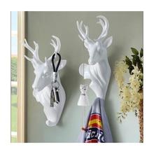 European creative decorative dear head hooks animal wall hanging decoration coat hook Good quality