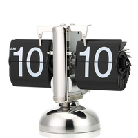 Unique Digital Flip Down Clock Internal Gear Operated Flip Desk Shelf Clock Hogard MA19