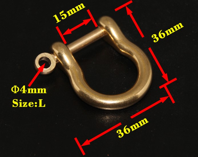 Stainless Steel D Bow Ring Shackle Screw Pin Joint Connect Key Chain Hooks Belt
