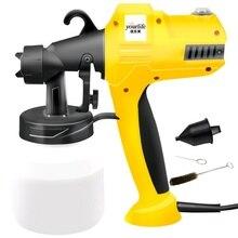 цена 400W 8000ML Electric Spray Paint Gun Oil High Pressure Spray Paint Tool Electric Spray Spray Gun Plus Line EU Plug Painting Tool в интернет-магазинах