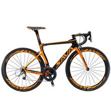 Opony SAVA węgla rower szosowy z włókna węglowego rower szosowy 22 prędkość wyścigi rowerów pełna rama z włókna węglowego z SHIMANO ULTEGRA 8000 Groupsets tanie tanio Unisex Carbon Fibre Road Bike 160-185 cm 7 9kg 1 33 Double V Brake 0 1 m3 Zwyczajne pedału 150 kg 15kg Wiosna wideł (niska biegów bez tłumienia)