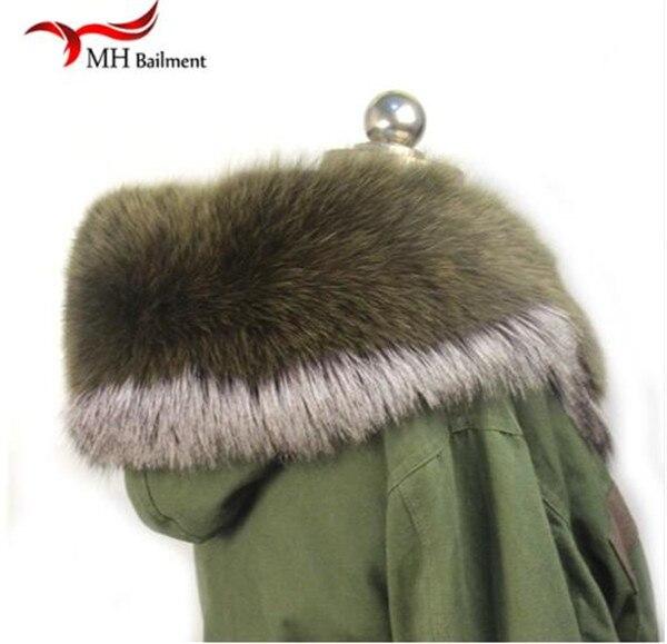 Шарф из натурального меха, пальто с меховым воротником, Женское зимнее пальто, меховые шарфы, роскошный мех енота, настоящий зимний теплый шейный платок - Цвет: A