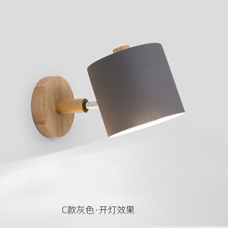 Nordic Simplified Dedroom Solid Wood Wall Lamp Creative Ma Caron Color Straight Corridor Aisle Wall Lamp chic solid color removeable wall stickers