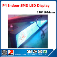 LED billboard p4 LED display module 4mm dot matrix module full color p4 led panel with display controller 5''x40'' LED Display