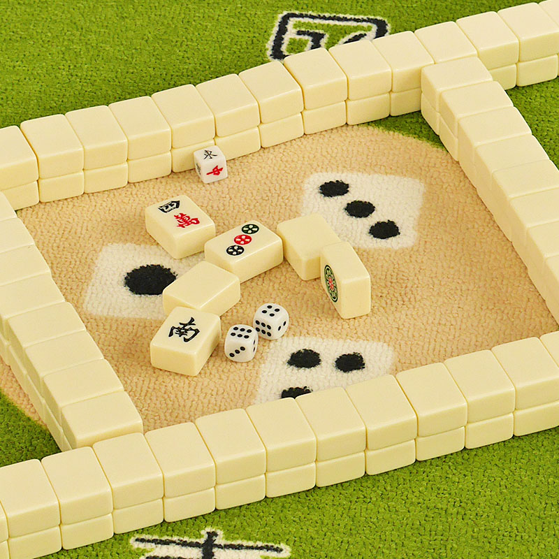 Portable Chinese Mini Size Mahjong Games with Four Winds Board Game Mah-Jong Easy To Carry Out hot sell 30mm traveling mahjong set with canvas bag mahjong games home games chinese funny family table board game