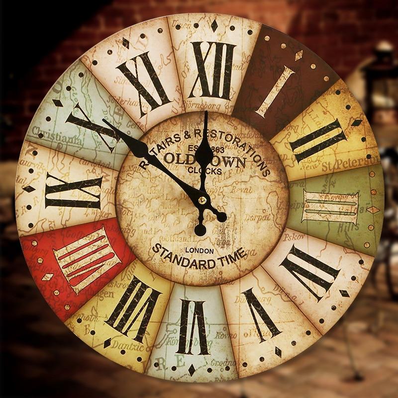 Online Shop large decorative wall clocks modern design Living Room ...