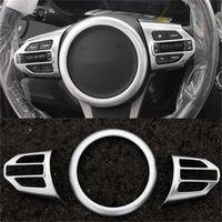 High Quality Car-Styling Accessories ABS Chrome Car Steering Wheel Trim Cover For Kia Sorento L 2015 2016 Auto Sticks 3pcs/set