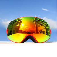 Kids Ski Goggles Helmet Compatible Snow Goggles for Boys & Girls with 100% UV Protection