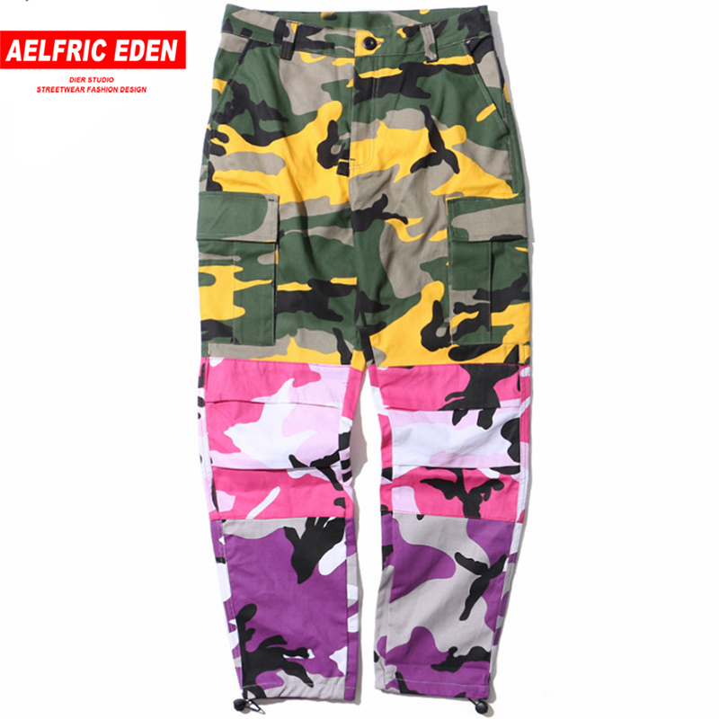 Aelfric Eden Tri Color Patchwork Camouflage Cargo Pants Men Tactical Trousers Hip Hop Casual Streetwear Joggers Sweatpants St06-in Cargo Pants from Men's Clothing    1