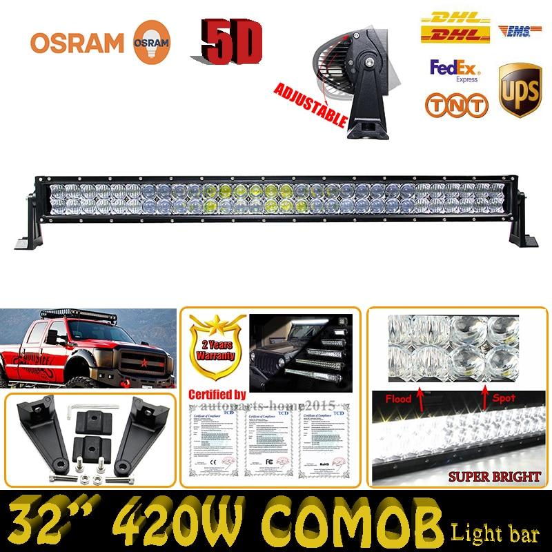 420W 5D 32 ForOsram Combo Beam Car font b Lights b font LED Work font b