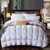 95 White Goose Feather Duck Down Comforter Duvet Winter Thick Comforter Autumn Quilt Blanket King Queen
