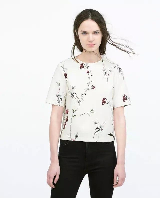 Buy 2015 summer za white digital printing for Digital printed t shirts