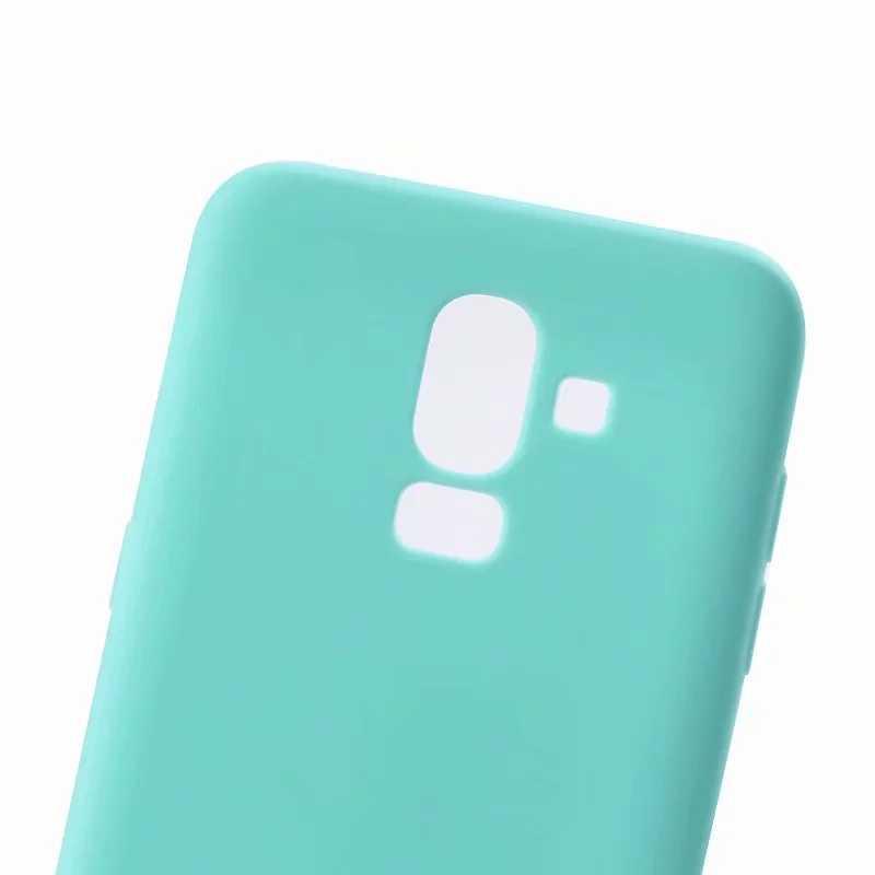 FULAIKATE Matte TPU Kasus untuk Samsung Galaxy J7 J8 J6 J4 2018 J530 2017 Lembut Kembali Penutup untuk S8 S9 Plus A3 A5 2017 Kasus Telepon