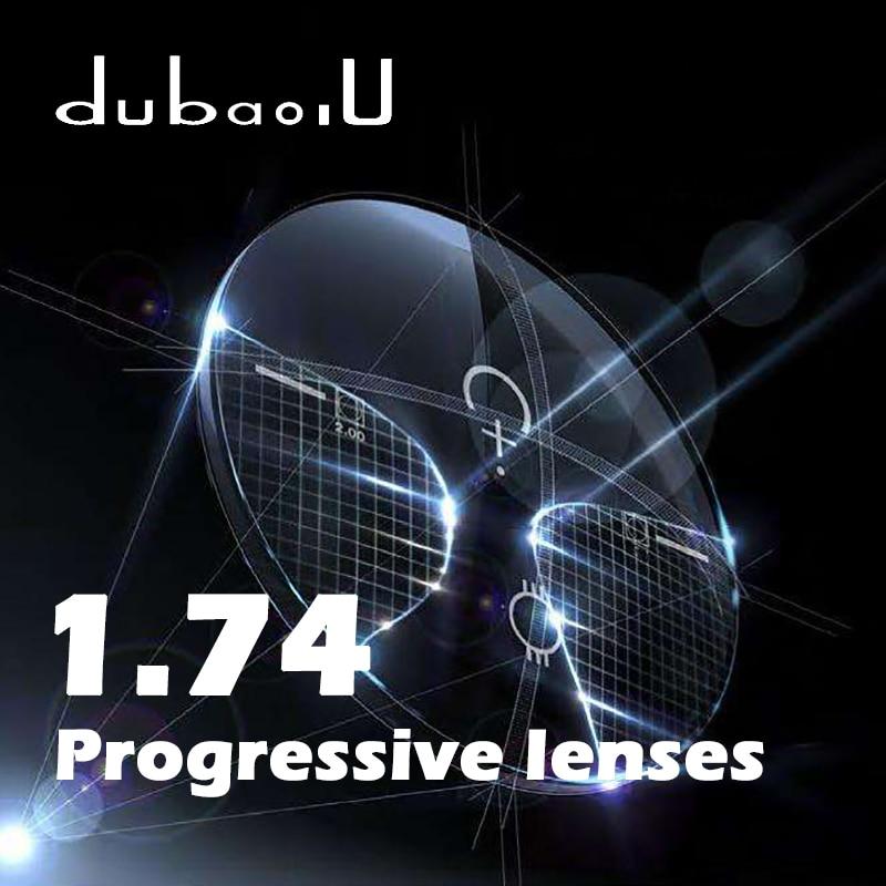 Lentilles progressives de forme libre d'index 1.74 lentilles optiques de Prescription multifocales claires lentilles de lecture d'hyperopie