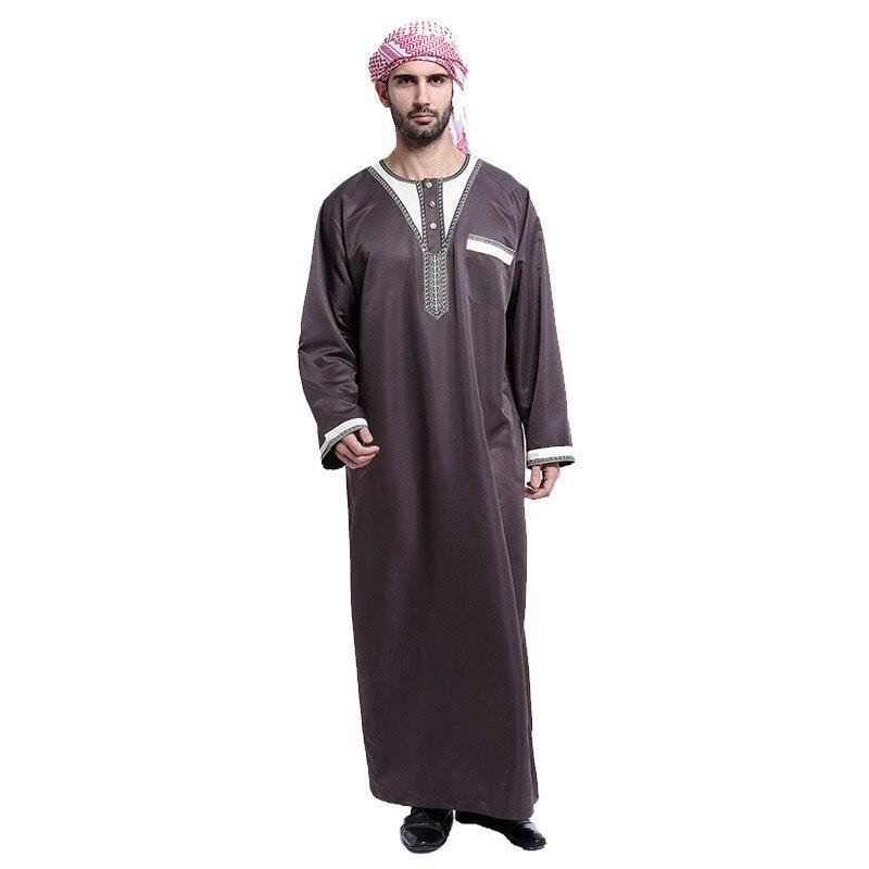 Arabischen kleidung männer Baumwolle thobe männlichen islamische kleidung für männer muslimischen männer caps