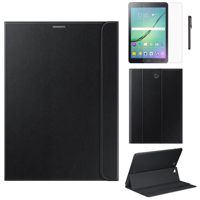 Leather Case Stand Cover For Samsung Galaxy Tab S2 8 Inch T710 T715 Ultra Slim Protective Shell 8Inch+Film +Pen Gift A50