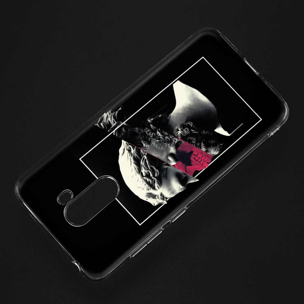 Funda trasera de silicona estampada para Xiaomi pocofone F1 mi 8 lite Play Redmi 5 Plus Note 7 6 Pro 5A 4 4X cubierta Medusa Vaporwave Art