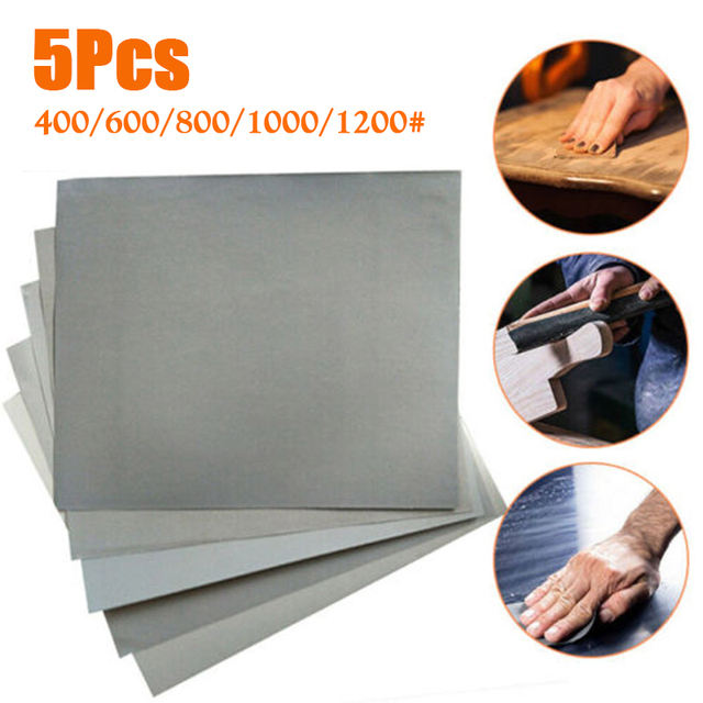 Stone Sandpaper Silicon Carbide Wet And Dry 400 600 800 1000 1200 grit Waterproof Polishing Wood Varnish Useful