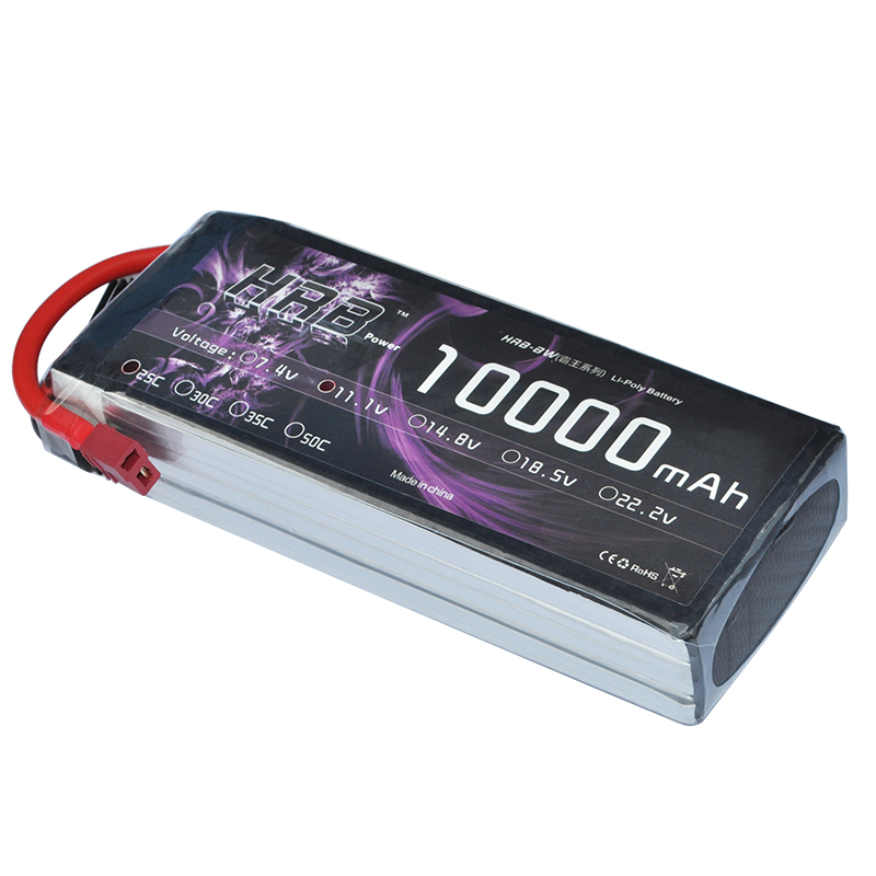 HRB RC Lipo 3S Battery 10000mAh 11.1V 25C MAX 50C Drone AKKU For RC Helicopter Airplane Car Boat Lipoly Bateria UAV FPV 2018 zdf power li polymer lipo battery 3s 11 1v 10000mah 25c max 50c for helicopter rc model quadcopter airplane drone