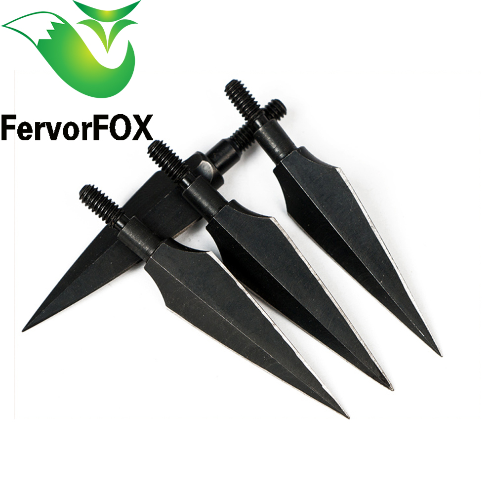 3PCS/ Sharp Carbon Steel Rotary Arrow Heads Broadheads Tips Arrow Points Archery Arrowheads For Compound Bow And Crossbow