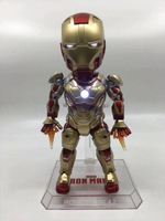 18cm Anime figure The Avanger EGG MK42 RON MAN with light action figure collectible model toys for boys