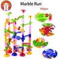 Encantadores 105 unids diy bolas laberinto de mármol de carrera pista ninjago bloques de construcción de ladrillo juguetes para niños de regalo de navidad