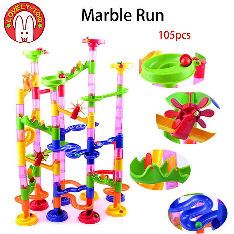 Marble Game Blocks : Lovely too pcs diy marble race maze balls track ninjago