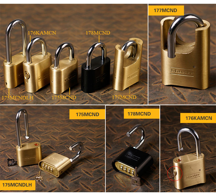 MASTER LOCK Tamper-proof Anti-corrosion Anti-rusting Waterproof BrPassword Combination Code Lock Padlock Anti-theft 178MCND (2)