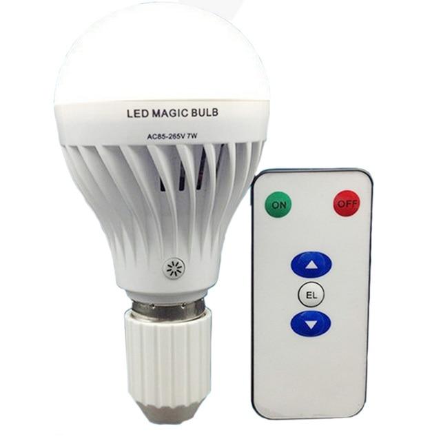 Wiederaufladbare Led lampe Lampe 7 watt E27 mit Fernbedienung ...