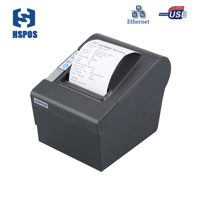 Cheap 80mm thermal POS printer with auto paper cutter Lan port arabic receipt printer impressora termica for retailing business 2017 new arrived usb port thermal label printer thermal shipping address printer pos printer can print paper 40 120mm