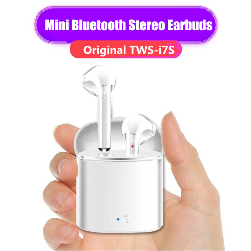 Mini TWS Earphone Headphones,Bluetooth Wireless Earbuds Stereo Earphones Cordless Sport Headsets for iphone 8, 8 Plus, X, 7