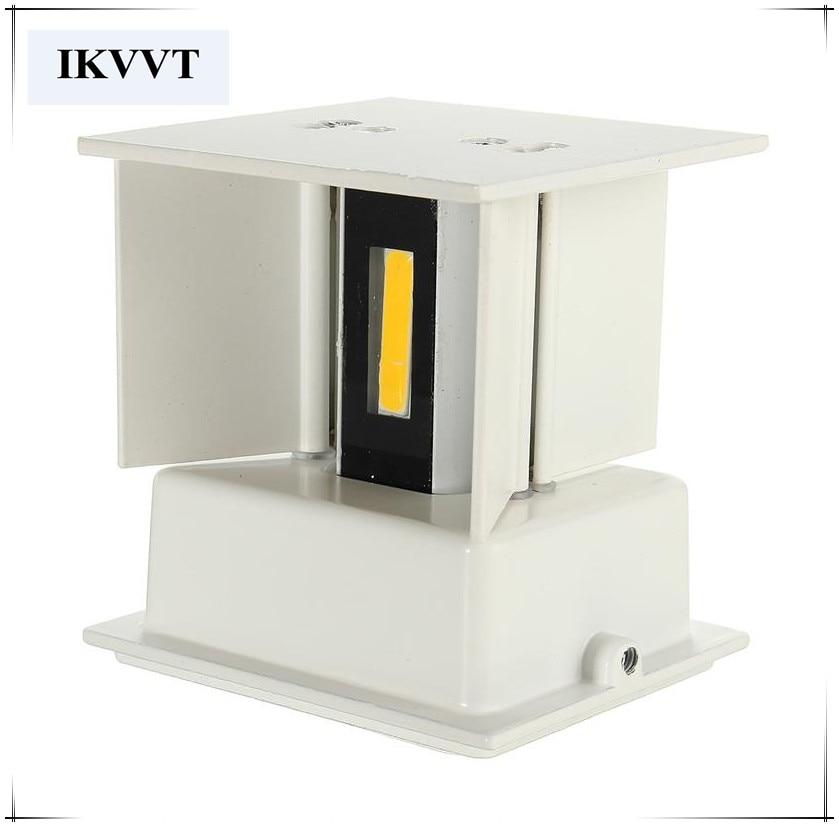 Economisire de energie de înaltă calitate super luminos COB LED lămpi de perete exterior 110v, 220V rezistent la apa moderne în aer liber LED Cube Lampa de perete