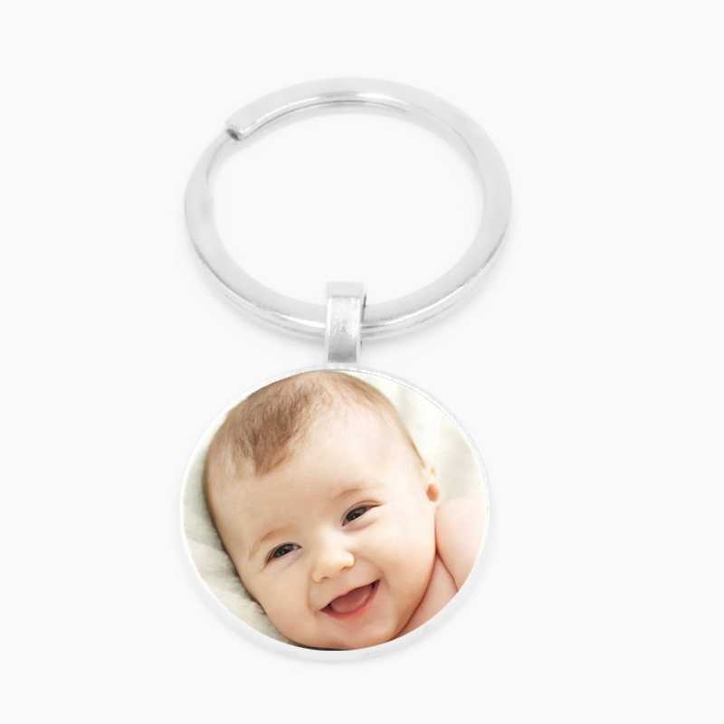 Handmade Personality Photo Family Photo Baby Child Dad Mom Brother Sister Grandparents Family Portrait Keychain Private Custom