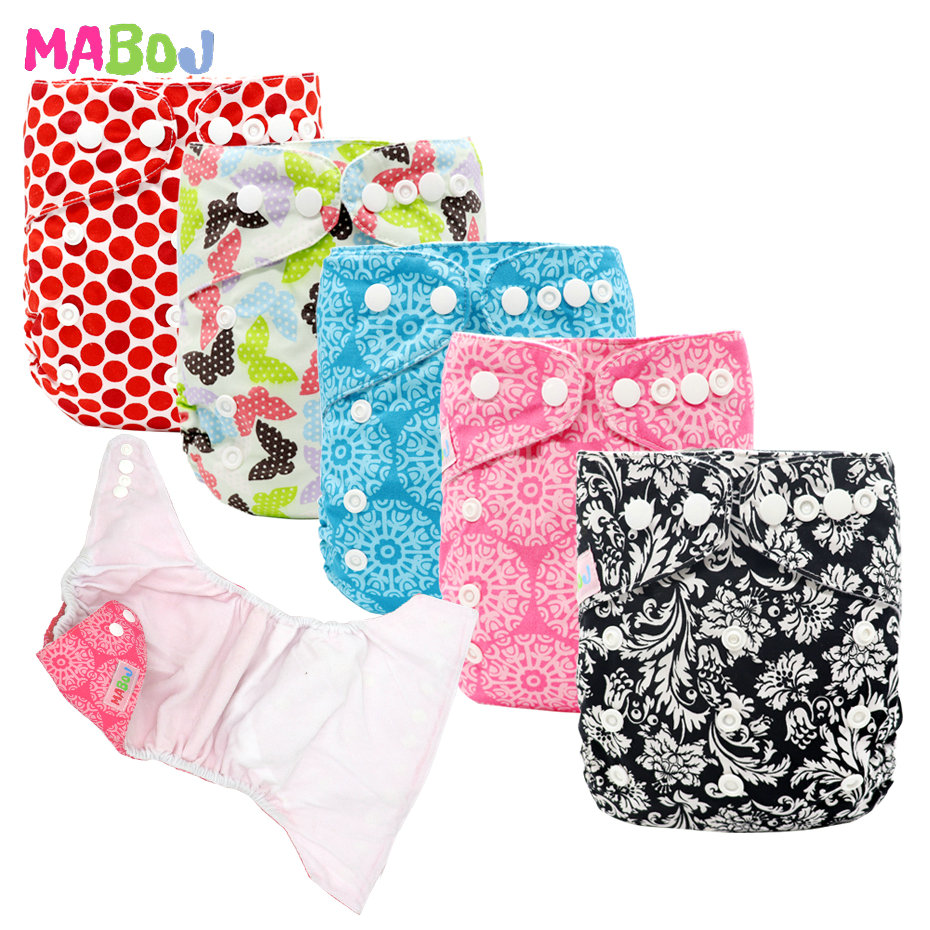 MABOJ Cloth Diapers Baby Cloth Diapers Reusable Nappies Washable Nappy Waterproof PUL Breathable Adjustable Wholesale Dropship