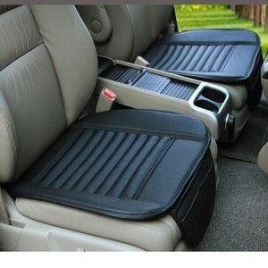 Image 1 - Capa de assento de carro de luxo couro universal preto tampas de assento de carro todo cercado almofada de assento de carro