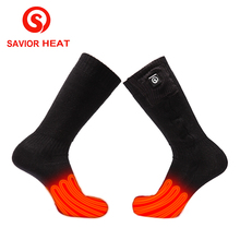 где купить Savior battery heated sock shoe cover riding 3 levels control 3.7V heating socks 40-45 degree winter Cotton Warm Soft washable по лучшей цене