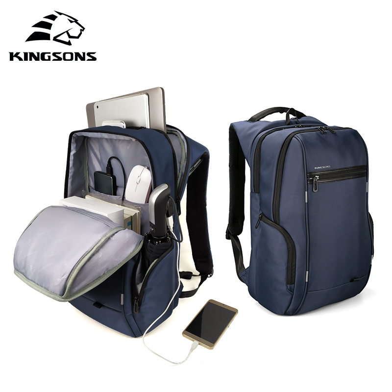 KINGSONS 2019 New 15 Inch Big Capacity Laptop Backpack Men Women Fashion Backpack Business Leisure Travel Student BackpackKINGSONS 2019 New 15 Inch Big Capacity Laptop Backpack Men Women Fashion Backpack Business Leisure Travel Student Backpack