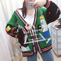 Women Sweater Sale Wool Casual Computer Knitted 2017 Autumn New Sweater Street Color Fight Loose Cartoon