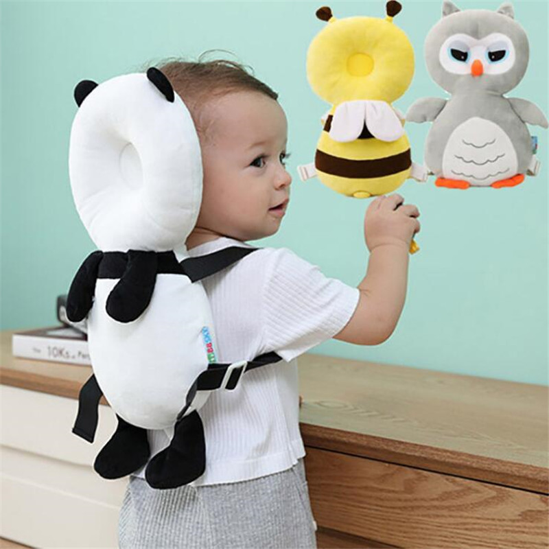 37*22*6cm Baby Pillow Cartoon Pp Cotton Baby Head Protection Pad Toddler Headrest Pillow Baby Sleep Positioner Anti Fall Cushion Pillow