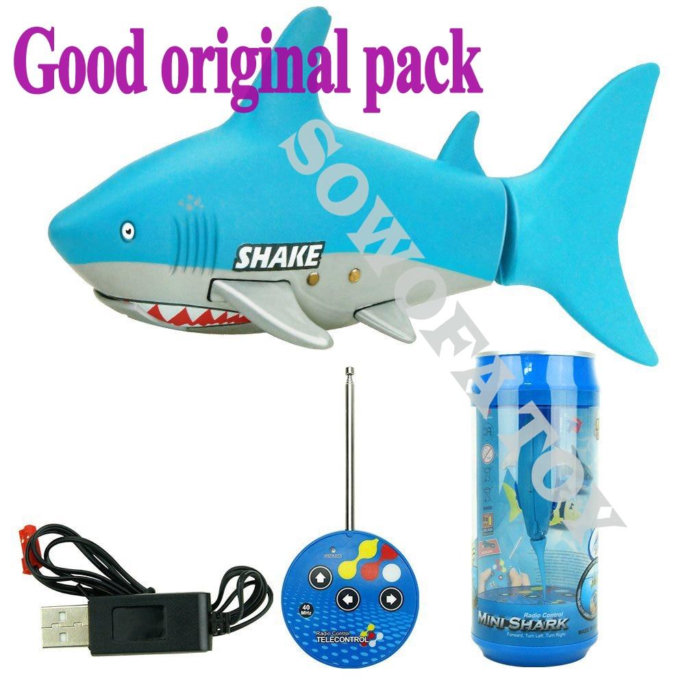 Control remoto Mini RC Shark juguete electrónico Fish Ocean Animal - Juguetes con control remoto - foto 1