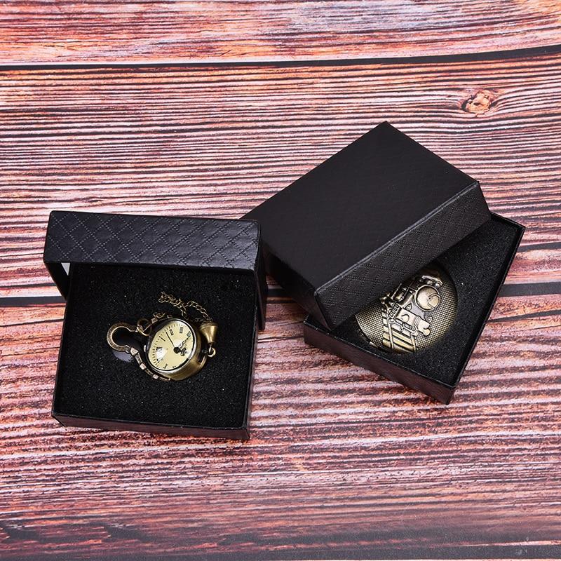 1 Stück Neue Verkauf Uhr Papier Box Tasche Einfache Uhr Box Fall Schwarz Karton Fällen Geschenke