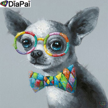 DiaPai 5D DIY Diamond Painting 100% Full Square/Round Drill Animal dog Diamond Embroidery Cross Stitch 3D Decor A21850 diapai 100