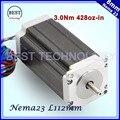NEMA23 шагового двигателя 57x112 мм 4-свинец 3A 3N. m/Nema 23 мотор 112 мм 428oz-в для 3D принтер для ЧПУ гравировальный фрезерный машина