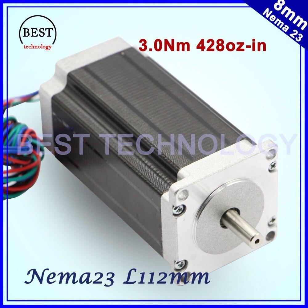 NEMA23 stepper moteur 57x112mm 4-plomb 3A 3N. m/Nema 23 moteur 112mm 428Oz-in pour 3D imprimante pour CNC gravure fraisage machine