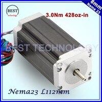 NEMA 23 CNC Stepper Motor 425Oz In 57x112mm 3 0A CNC Stepping Motor 280nm